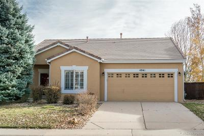 Highlands Ranch Single Family Home Under Contract: 4941 Collingswood Drive