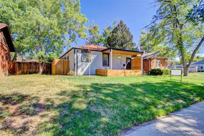 Denver Single Family Home Active: 3710 North Cook Street