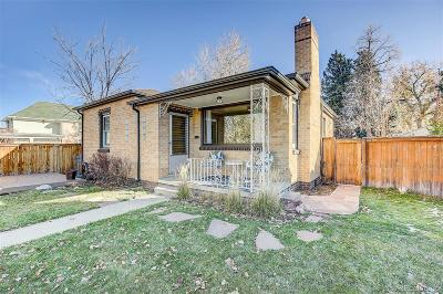 Denver Single Family Home Under Contract: 5020 Tennyson Street