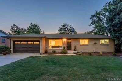Denver Single Family Home Active: 5585 East Lehigh Avenue