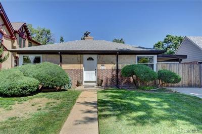Denver Single Family Home Active: 842 Pontiac Street