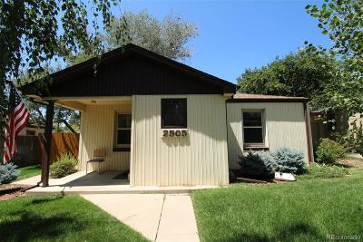 Denver Single Family Home Sold: 2505 Wolff Street