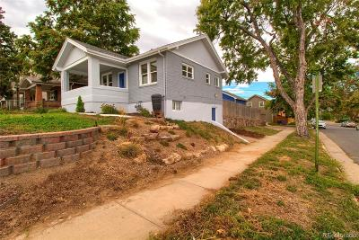 Denver Single Family Home Active: 3559 North Steele Street