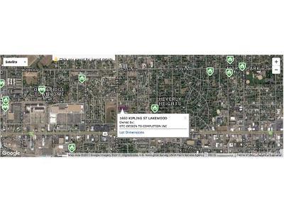 Lakewood Residential Lots & Land Active: 1650 Kipling Street