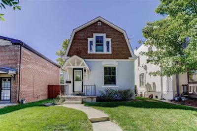 Denver Single Family Home Under Contract: 381 Clarkson Street
