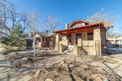 Denver Single Family Home Active: 2075 Hudson Street