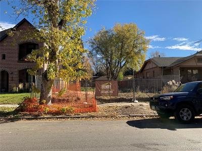 Denver Residential Lots & Land Active: 456 South Vine Street