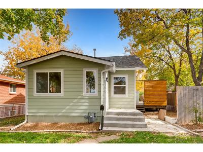 Denver Single Family Home Active: 5186 Tennyson Street