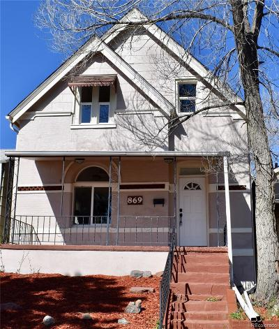 Denver Single Family Home Active: 869 Knox Court