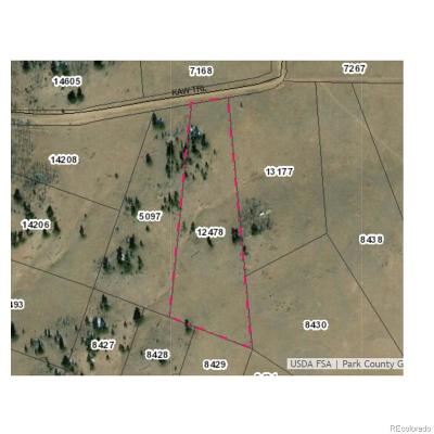 Hartsel CO Residential Lots & Land Under Contract: $14,000