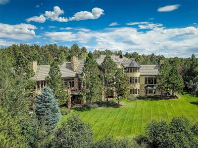 Castle Rock CO Single Family Home Under Contract: $4,995,000