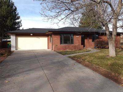 Wheat Ridge Single Family Home Under Contract: 3285 Ingalls Street