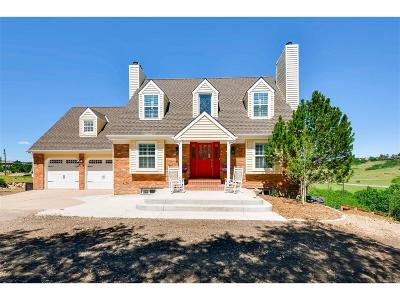 Castle Rock Single Family Home Under Contract: 9323 North Corral Lane
