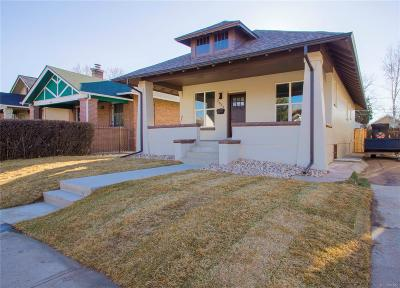 Denver Single Family Home Under Contract: 2633 Elm Street