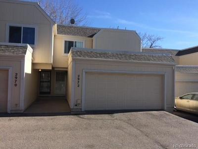 Aurora Condo/Townhouse Under Contract: 2972 South Parker Court