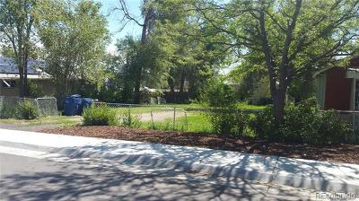 Denver Residential Lots & Land Active: 3818 South Knox Court