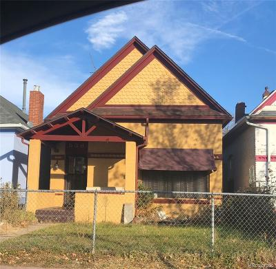 Denver Single Family Home Under Contract: 538 Galapago Street