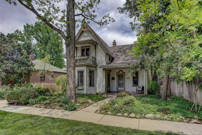 Boulder CO Single Family Home Under Contract: $1,285,000