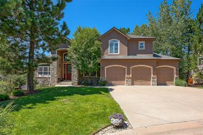Castle Pines, Castle Rock, Larkspur Single Family Home Active: 1061 Timbercrest Drive