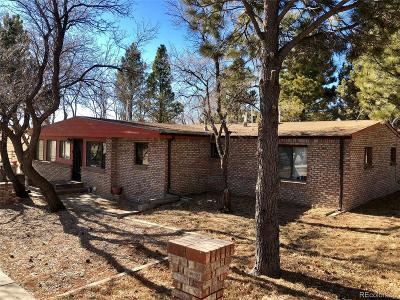 Elbert County Single Family Home Under Contract: 25586 County Road 61