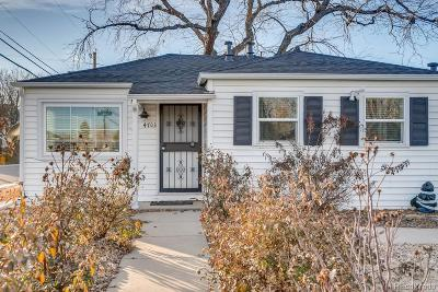 Denver Single Family Home Active: 4703 Osceola Street