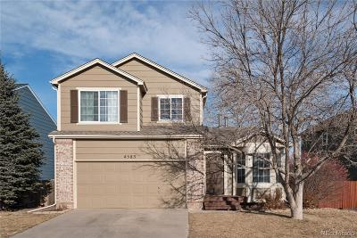 Castle Rock Single Family Home Active: 4583 East Bennington Avenue