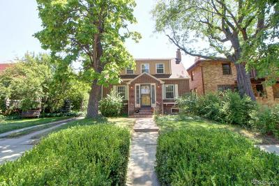 Denver Single Family Home Under Contract: 4518 East 17th Avenue Parkway