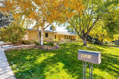 Cherry Hills Village Single Family Home Active: 4020 South Dahlia Street