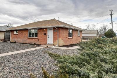 Commerce City Single Family Home Under Contract: 6991 Weiman Court