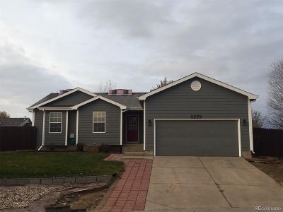 Greeley Single Family Home Active: 5228 West 16th Street