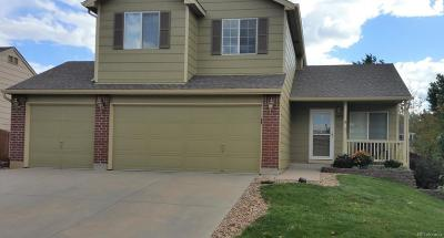 Castle Rock Single Family Home Under Contract: 3656 Rawhide Circle