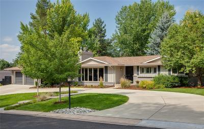 Cherry Hills Village CO Single Family Home Under Contract: $1,599,000