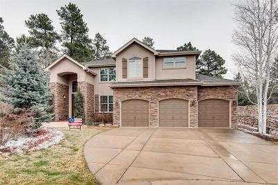 Castle Pines CO Single Family Home Under Contract: $824,900