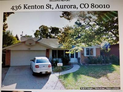 Aurora CO Single Family Home Active: $330,000