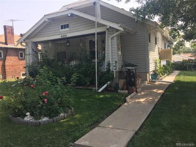 Denver Single Family Home Active: 4504 Clay Street