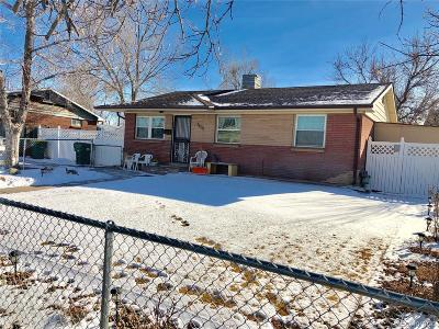 Commerce City Single Family Home Under Contract: 5860 East 68th Way
