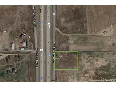 Broomfield County Residential Lots & Land Active: I-25 Frontage Road