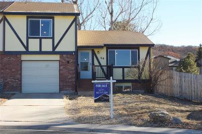 Castle Rock Condo/Townhouse Under Contract: 68 South Valley Drive