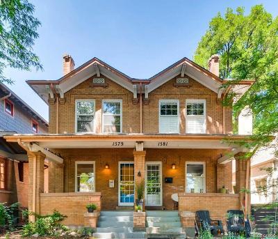 Denver Condo/Townhouse Active: 1579 Madison Street