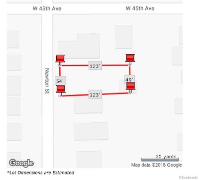 Denver Residential Lots & Land Under Contract: 4480 Newton Street