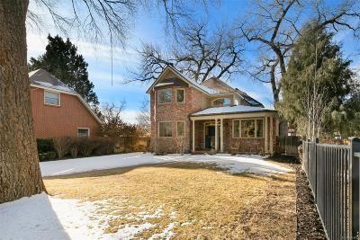 Denver Single Family Home Active: 2435 South Fillmore Street