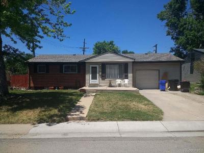 Denver Single Family Home Active: 7625 Zane Street
