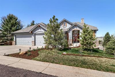 Castle Rock Single Family Home Under Contract: 3325 Red Tree Place