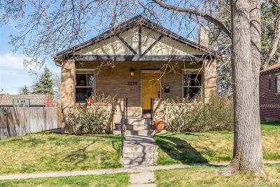Denver Single Family Home Active: 3224 Stuart Street