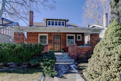 Denver Single Family Home Active: 807 South Gaylord Street