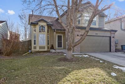 Castle Rock Single Family Home Under Contract: 5122 Devon Avenue
