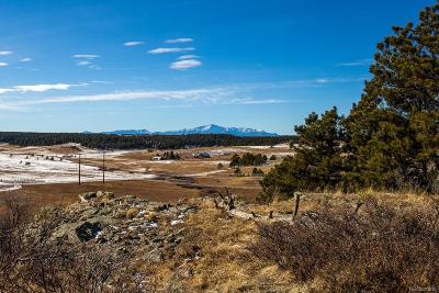 Elbert CO Residential Lots & Land Under Contract: $489,900