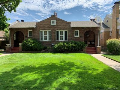 Denver Single Family Home Active: 528 South Franklin Street