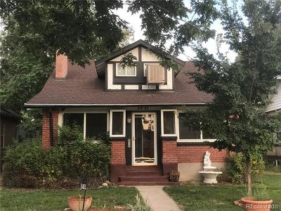 Denver Single Family Home Active: 3451 North Josephine Street