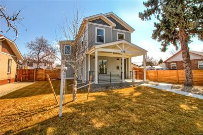 Denver Single Family Home Sold: 4116 Quitman Street